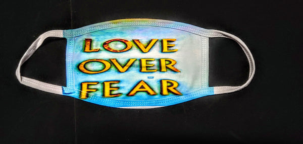 Love over Fear Fashion Face Mask - Ultra Fast Tshirts and more