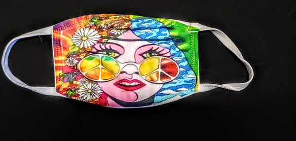 Hippie Fashion Face Mask - Ultra Fast Tshirts and more