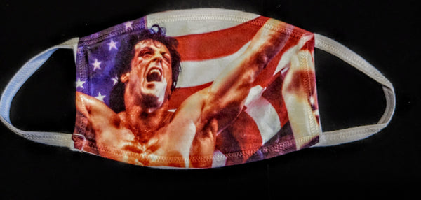 Rocky Flag Fashion Face Mask - Ultra Fast Tshirts and more