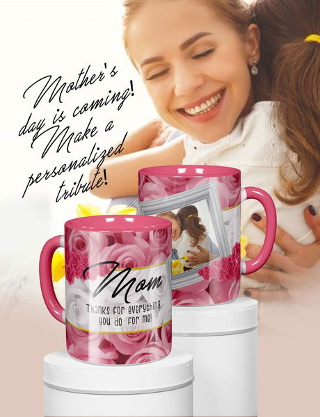 Give Mom a personalized Mother's Day Mug - Ultra Fast Tshirts and more