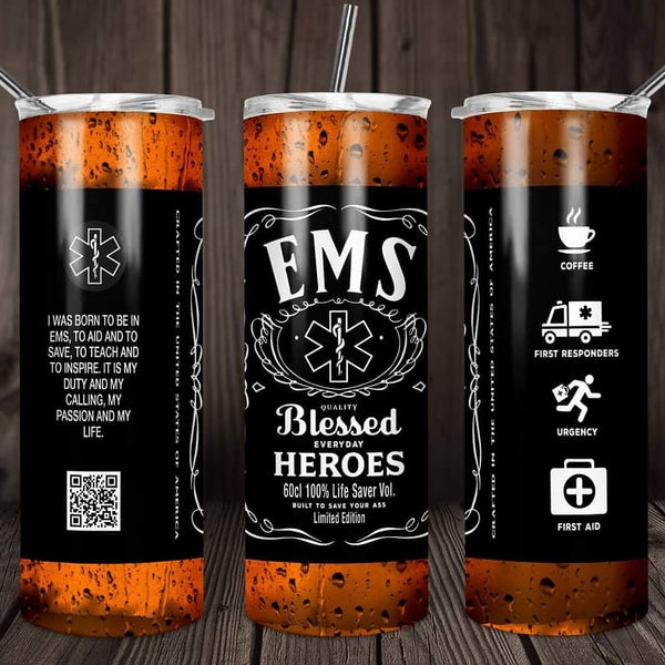 EMS blessed heroes travel mug - Ultra Fast Tshirts and more