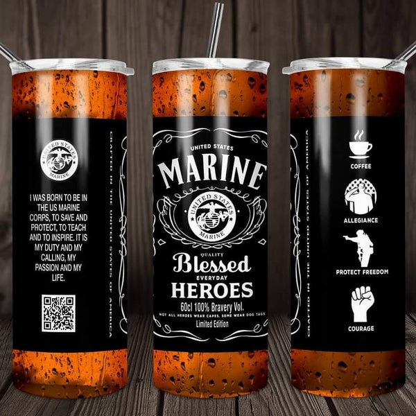 Marine blessed heroes travel mug - Ultra Fast Tshirts and more