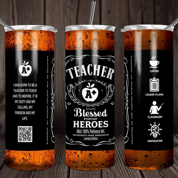Teacher blessed heroes travel mug - Ultra Fast Tshirts and more