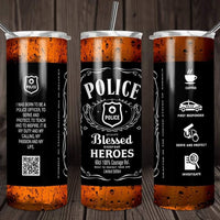 Police blessed heroes travel mug - Ultra Fast Tshirts and more