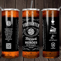 Firefighter blessed heroes travel mug - Ultra Fast Tshirts and more