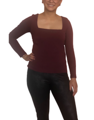 Chelsea Square Neck Long Sleeve Top