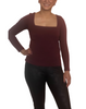 Petite Chelsea Square Neck Long Sleeve Top