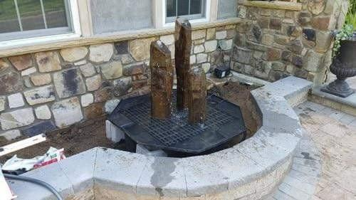 Complete Natural Top Basalt Fountain Kits - Smith Creek Fish Farm