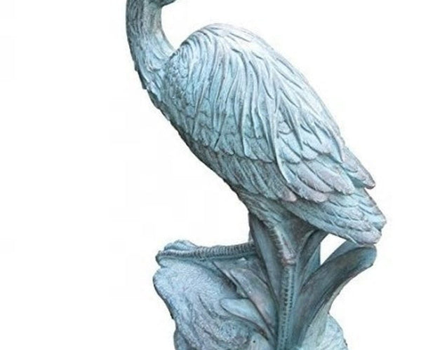 Bronze Resin Heron Fountain - Smith Creek Fish Farm