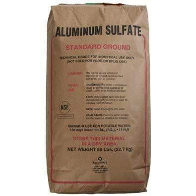 Aluminum Sulfate 50 lb. Bag Granular - Smith Creek Fish Farm