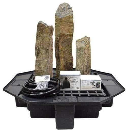 Natural Top Basalt Fountain Kit - Smith Creek Lake and Pond