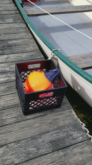 basket and poly ball set up for recreational sport fishing