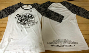 "Skurge of the Sea Mermaid Burnout Raglan ""Baseball"" T-Shirt (Compass Rose)"
