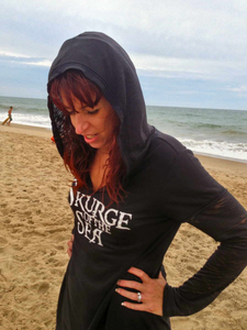 Skurge of the Sea Mermaid Hooded V-Neck Long-Sleeve Vintage Tee (M.C. Design) Mermaid Hoodie