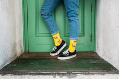 Bright yellow socks