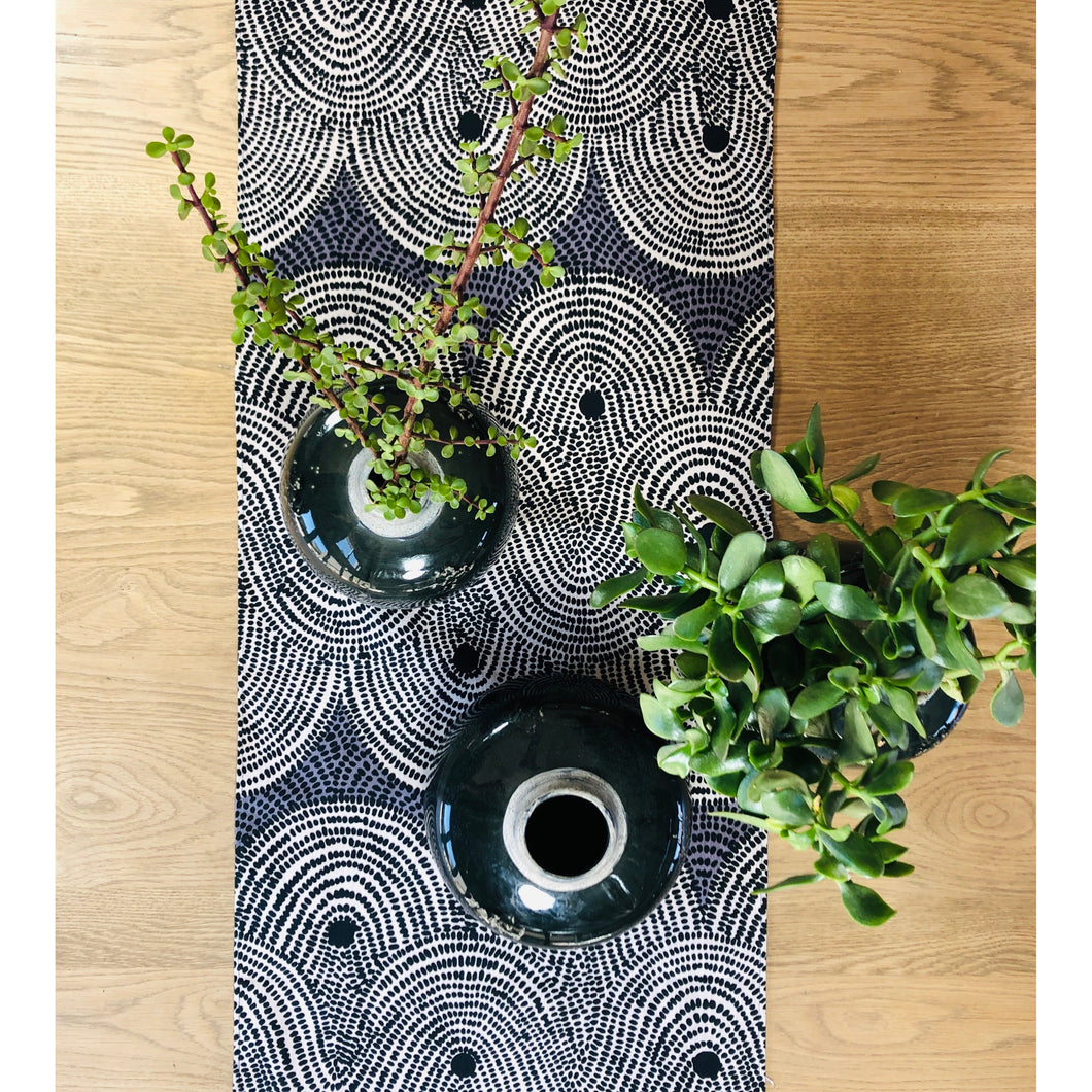 Table Runner - Crop Fields - Grey
