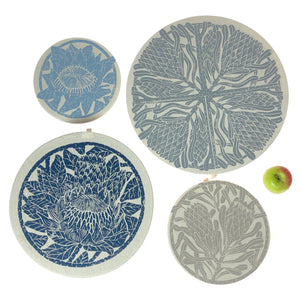 Dish and Bowl Cover Set of 4 - Protea