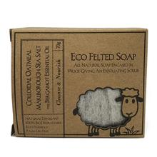 Load image into Gallery viewer, Eco Felted Soap - Colloidal Oatmeal, Marlborough Sea Salt & Bergamot Essential Oil