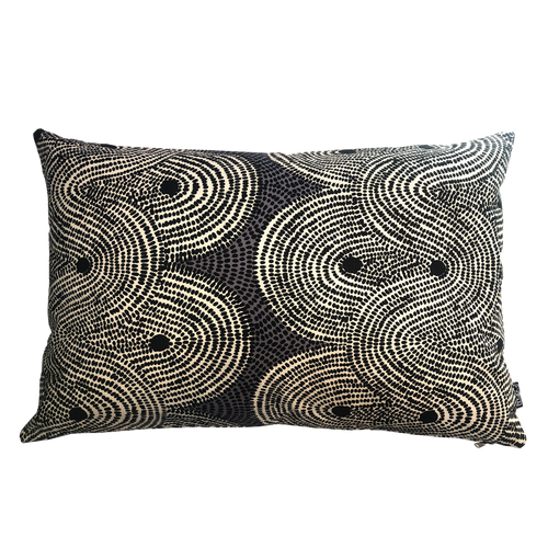 DESIGN TEAM | Cushion Cover - Crop Fields Grey (45cm x 70cm)