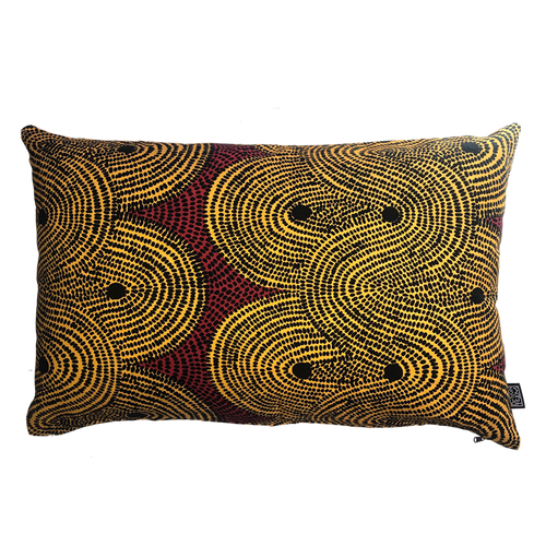 DESIGN TEAM | Cushion Cover - Crop Fields Turmeric (45cm x 70cm)