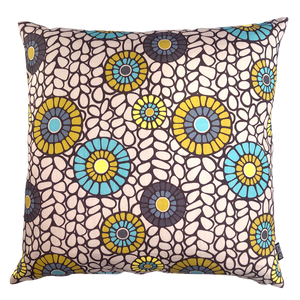 DESIGN TEAM | Cushion Cover - Okra Aqua (60cmx60cm)