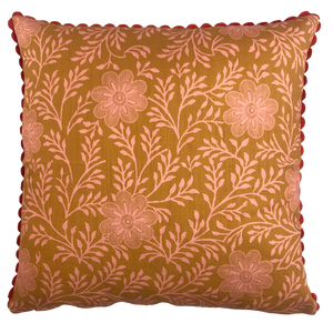 DESIGN TEAM | Cushion Cover - Khanga Flower Pickled Ginger (50cmx50cm)