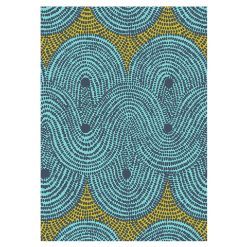 DESIGN TEAM | TEA TOWEL - Crop Field Aqua