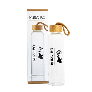 FILTER SET: KURO-Bō Gō-Ecō Glass Water Bottle (550ml) + 1 KURO-Bō Kōins