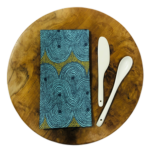 Table Napkins - Crop Field Aqua