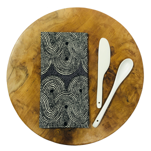 Table Napkins - Crop Field Grey