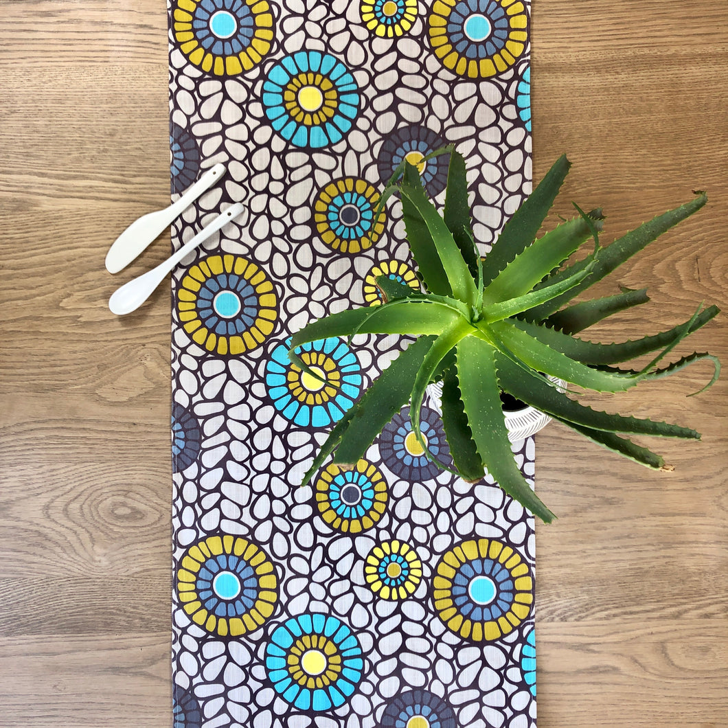 Table Runner - Okra Aqua