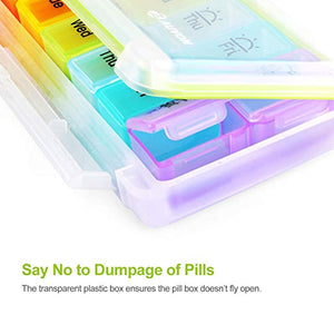 AUVON iMedassist Weekly Moisture-Proof Pill Organizer Twice a Day