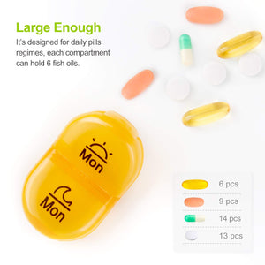AUVON iMedassist Weekly Pill Organizer Twice-A-Day - AUVON