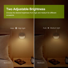Load image into Gallery viewer, AUVON Rechargeable Motion Sensor Night Light, Warm White LED Stick-On Closet Light with Dusk to Dawn Sensor, Adjustable Brightness for Wall, Stairs, Cabinet, Hallway (4 Pack) - AUVON