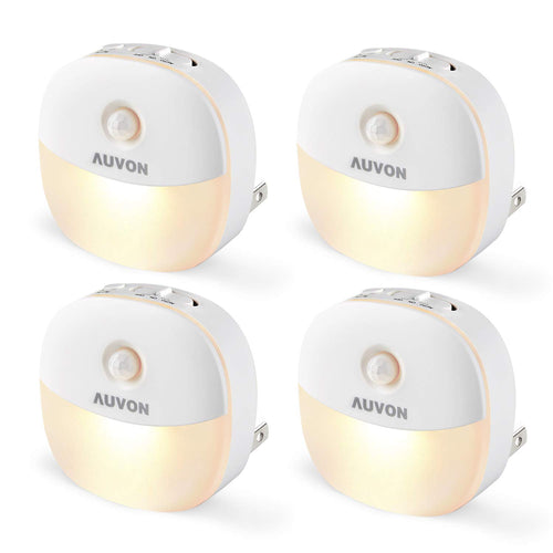 AUVON Plug-in LED Motion Sensor Night Light