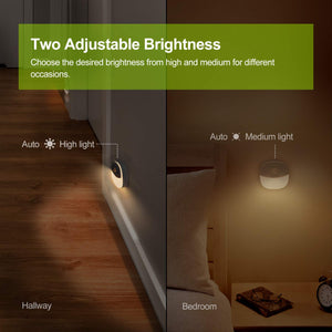 AUVON Rechargeable Closet Light, Warm White LED Stick-On Night Light