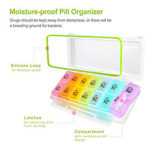 Load image into Gallery viewer, AUVON iMedassist Weekly Moisture-Proof Pill Organizer Twice a Day