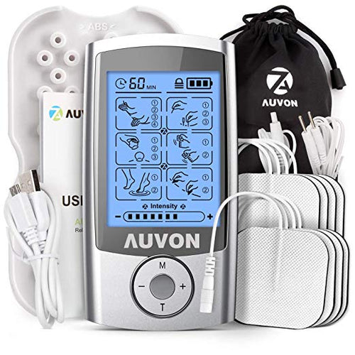 AUVON TENS Unit 16 Modes with 8pcs 2