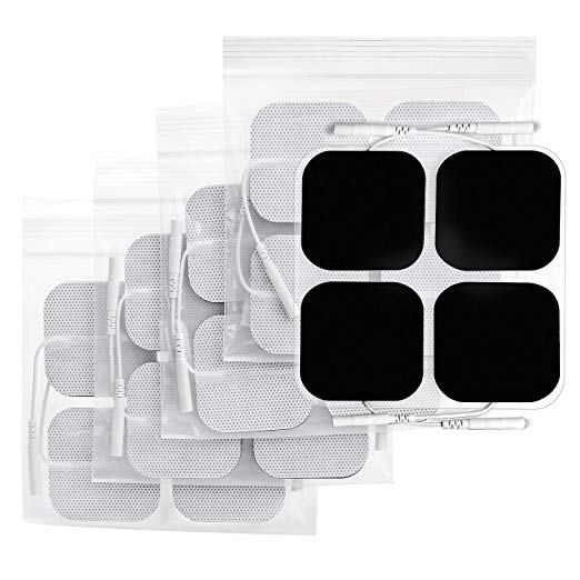 AUVON TENS Unit Pads 2X2 20 Pcs, 3rd Gen Latex-Free Replacement