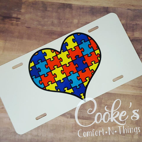 Autism license plate, autism awareness, autism love