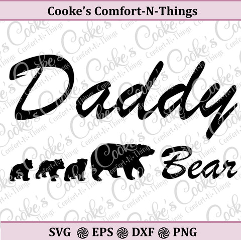 Daddy Bear with cubs svg | Daddy bear svg |  father bear svg | bear and cubs | Instant Download