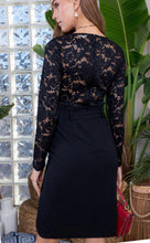 Load image into Gallery viewer, Fancy Black Lace Dress