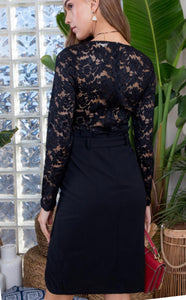 Fancy Black Lace Dress