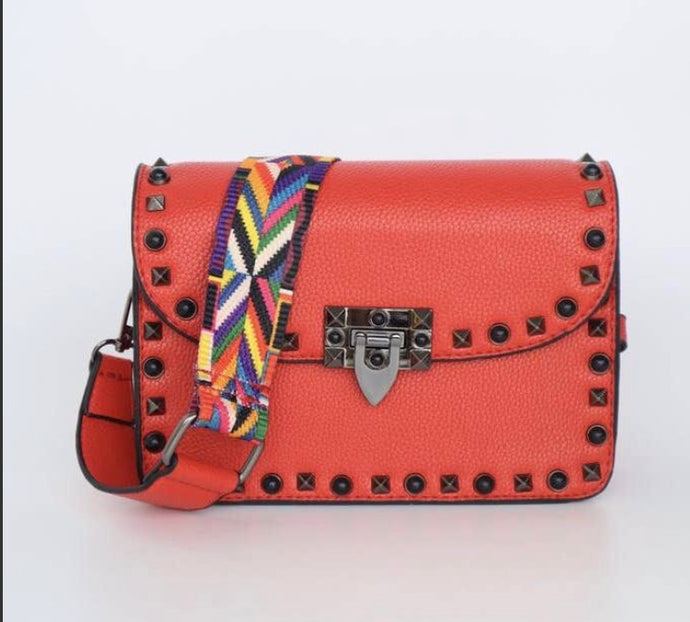Ruby Red Cross Body Handbag