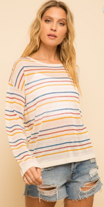 Rainbow Stripe Multi Color Sweater
