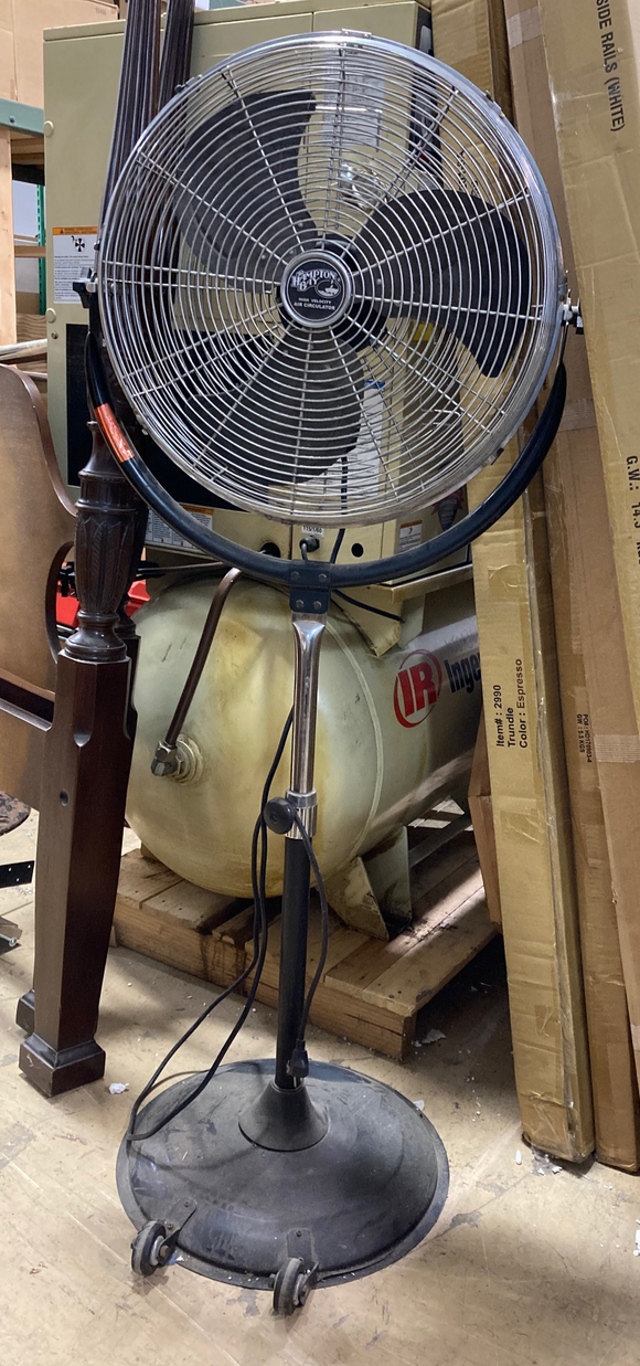 The Hampton Bay High Velocity Air Circulator Industrial Pedestal Fan HVP-20B