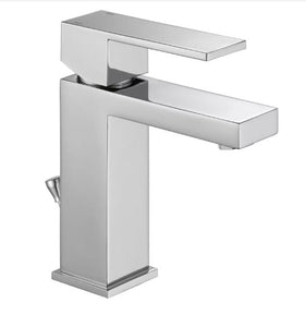 Delta Angular Modern Single Hole Bathroom Faucet - 567LF-PP