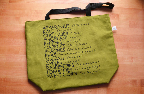 Just in Time for Farmers Markets Season: New Shopping Tote Designs
