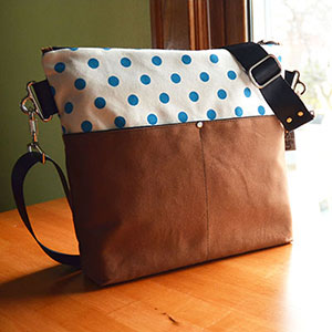 Zippered Cross Body Bag by Liz Sabo | Gifts for Her | Shoulder Bag | Made in Cleveland