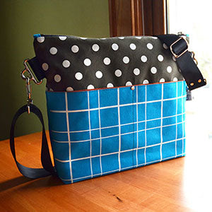 Zippered Cross Body Bag by Liz Sabo | Handcrafted Fabric Bag from Cleveland Ohio